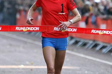 Paula Radcliffe Winning the 2005 Nike London 10K in Hyde Park (Getty Images)