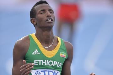 Selemon Barega after winning the 5000m at the IAAF World U20 Championships Bydgoszcz 2016 (Getty Images)