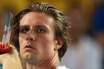 Andreas Thorkildsen of Norway competes in the men's javelin final (Getty Images)