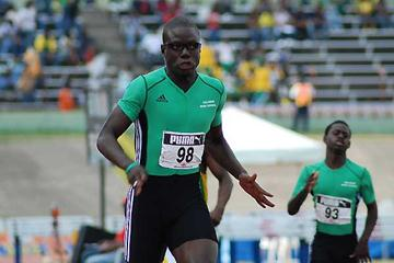 Ramone McKenzie at the Jamaican High School Champs (Anthony Foster)