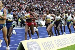 Women's 5000m on the blue track of the Olympic stadium at the 2006 DKB-ISTAF Berlin (Getty Images)