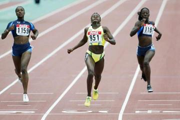 Anneisha McLaughlin of Jamaica wins the 200m final (Getty Images)