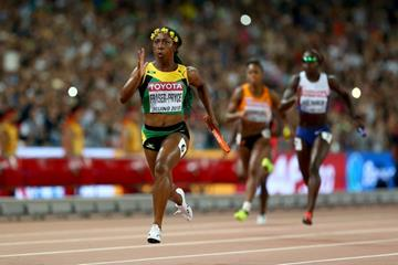 Shelly-Ann Fraser-Pryce anchors Jamaica to gold in the 4x100m at the IAAF World Championships, Beijing 2015 (Getty Images)