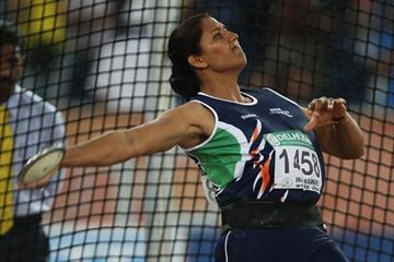 Gold medallist Krishna Poonia leads a discus throw sweep for India in Delhi (Freelance)