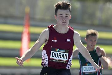 Australian sprinter Jake Doran at the 2017 Australian U18 Championships (Getty Images)