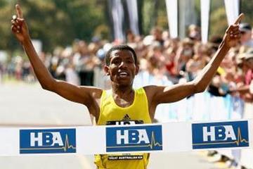 Haile Gebrselassie win the inaugural 15km Great Australian Run (Getty Images)