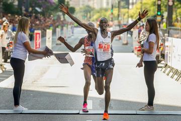 Kibiwott Kandie wins the Corrida Internacional de São Silvestre in Sao Paulo (AFP / Getty Images)