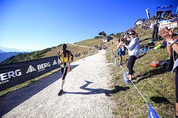 Geoffrey Ndungu on his way to winning the Adelholzen Hochfelln Mountain Race (Alexis Courthoud)