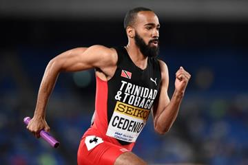 Machel Cedenio in the 4x400m at the IAAF World Relays Yokohama 2019 (Getty Images)