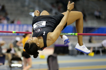 Kendell Williams in the pentathlon high jump at the NCAA Indoor Championships (Spencer Allen / Image of Sport)