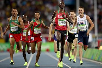 Asbel Kiprop winning his 1500 semi-final in the Rio 2016 Olympic Games  (Getty Images)