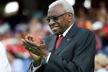 IAAF President Lamine Diack at the opening ceremony of the IAAF World Youth Championships, Cali 2015 (Getty Images)