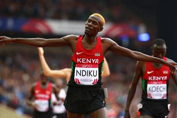 Caleb Ndiku wins the Commonwealth 5000m title (Getty Images)