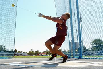 Matthew Denny in the hammer in Melbourne (Getty Images)