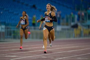 Lieke Klaver wins the 400m at the Wanda Diamond League meeting in Rome (Chris Cooper)