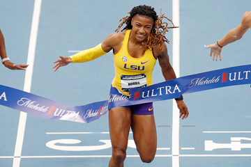 Aleia Hobbs wins the 100m at the US Championships (Getty Images)