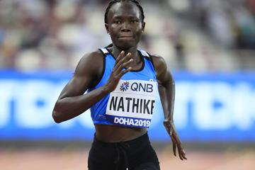 Athlete Refugee Team member Rose Lokonyen Nathike at the IAAF World Athletics Championships Doha 2019 (Getty Images)