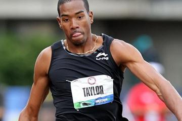 Christian Taylor flying towards the U.S. title in Eugene (Getty Images)