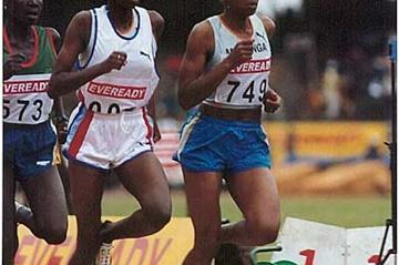 Kenyan champs - Jackline Maranga (749) leads Naomi Mugo and Caroline (Omulo Okoth)