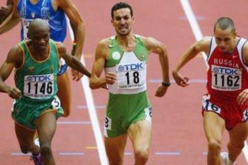 Djabir Said Guerni of Algeria wins the 800m final (Getty Images)