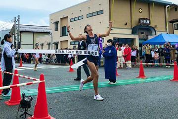 Masatora Kawano wins the 50km race walk in Takahata (JAAF)