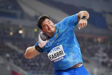 Leonardo Fabbri in the shot put at the World Athletics Championships Doha 2019 (Getty Images)