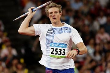 Andreas Thorkildsen wins his second successive Olympic javelin title (Getty Images)