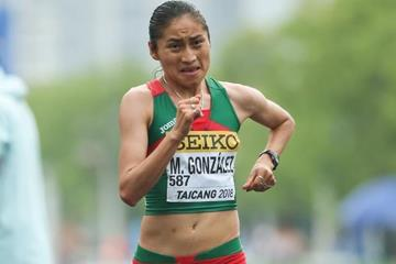 Maria Guadalupe Gonzalez in the women's 20km race walk at the IAAF World Race Walking Team ChampionshipsTaicang 2018 (Getty Images)