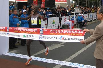 France's Abraham Kiprotich, winner of the men's race (Robert Wagner / organisers )