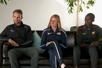 Matt Baxter, Courtney Frerichs and Joshua Cheptegei on the World Athletics Club (IAAF)