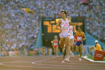 Sebastian Coe winning the 1984 Olympic 1500m title (Getty Images)