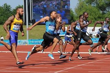 Andre de Grasse in the Birmingham 200m (Jean-Pierre Durand)