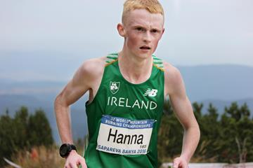 Ireland's Zak Hanna in action at the 2016 World Mountain Running Championships (Gerry Brady)