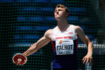 Britain's Sam Talbot competes in the boys' decathlon at Cali 2015 ()