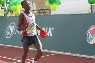 Mabuthile Lebopo of Lesotho wins the Nedbank South Africa Marathon Championships (Mark Ouma)