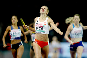 Justyna Swiety-Ersetic anchors Poland to victory in the 4x400m at the European Championships (Getty Images)