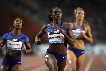 Brussels 100m winner Dina Asher-Smith (Giancarlo Colombo)