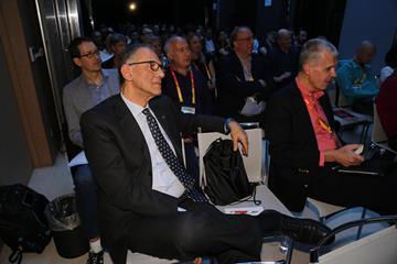 IAAF Road Running Commission Chairman Carlo Capalbo at the IAAF Road Running Seminar in Valencia (Jean-Pierre Durand)