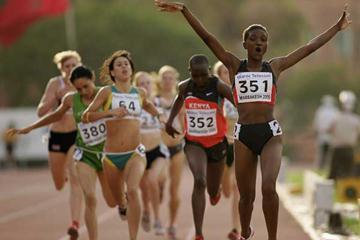Flavious Teresa Kwamboka of Kenya wins the Girls' 800m at the World Youth Championships (Getty Images)