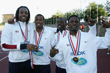 Team USA celebrate in Ostrava (Getty Images)