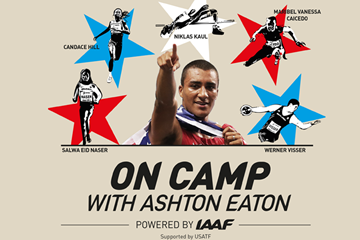 On camp with Ashton Eaton (IAAF)