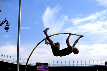 Sam Kendricks in action at the Continental Cup in Ostrava (Getty Images)