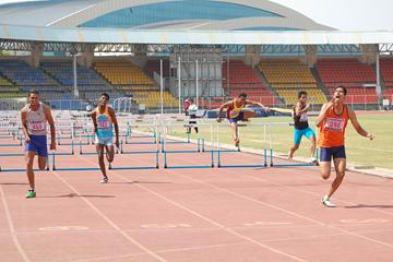 Aneesh Joshi wins the 110m Hurdles at Indian Junior Federation Cup (Ram. Murali Krishnan)