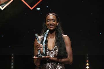 Female World Athlete of the Year Dalilah Muhammad (Philippe Fitte)