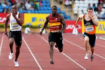Dwain Chambers powers to the UK 100m title in Birmingham (Getty Images)