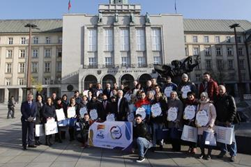 Launch of the 'Ostrava supports continents' project at Ostrava's Town Hall (Czech Athletics Federation)