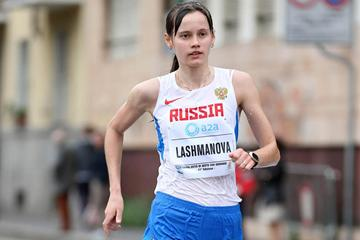 Elena Lashmanova on her way to victory in Sesto San Giovanni (Giancarlo Colombo)