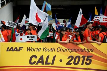 Opening ceremony at the IAAF World Youth Championships, Cali 2015 (Getty Images)