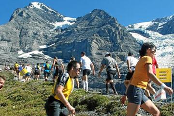At the 2011 Jungfrau Marathon  (Swiss Image)