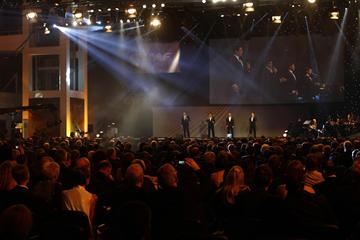 Il Divo on stage at the IAAF Centenary Gala in Barcelona (Giancarlo Colombo)